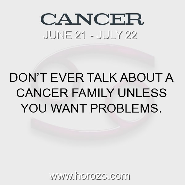 Cancer zodiac fact
